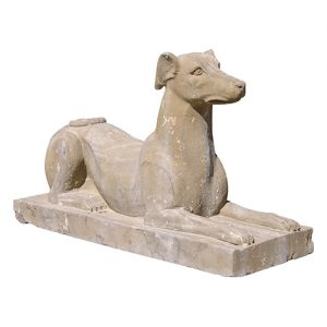 PAIR OF STONE GREYHOUNDS