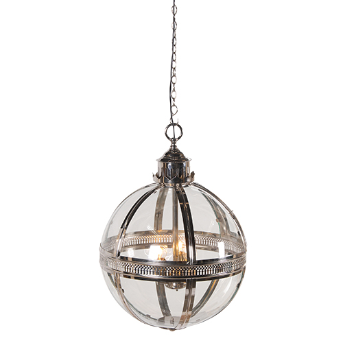 SILVER GLASS BALL LIGHT