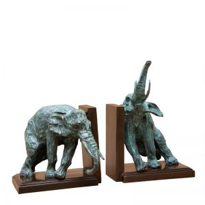 Bookend Lazy Elephant Setr