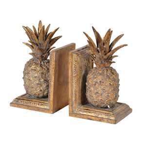 PR GOLDEN PINEAPPLE BOOKENDS