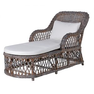GREY WASH LOUNGER W/CUSHION
