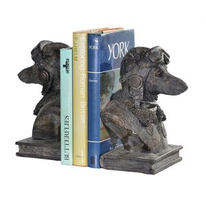 DOG PILOT BOOKENDS