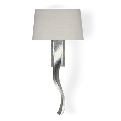 Twl08 ribbon wall light burnished silver at philipe marques home twl08 ribbon wall light burnished silver mozeypictures Image collections