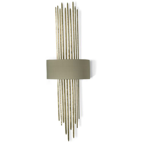 TWL38 - FLYNN CAGED WALL LIGHT - WHITE GOLD