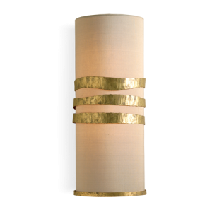 TWL49 - SCRUFFY RIBBON WALL LIGHT - WHITE GOLD