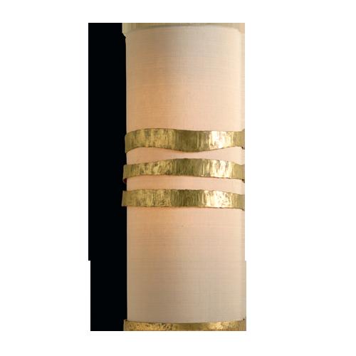 TWL49 - SCRUFFY RIBBON WALL LIGHT - WHITE GOLD
