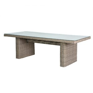 OUTDOOR RATTAN D-TABLE