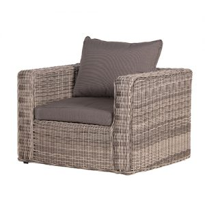 RATTAN ARMCHAIR W/CUSHION