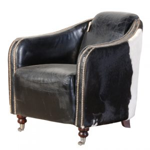 B&W Leather / Hide Chair