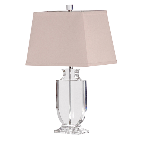 Clear Crystal Urn Lamp