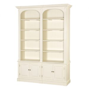 Cream Fayence DBL Bookcase