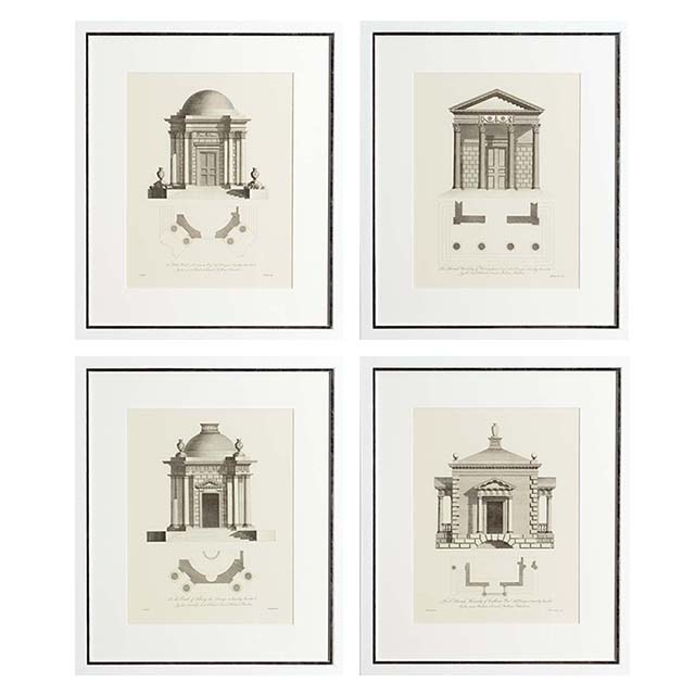 Prints Architecture Set of 4