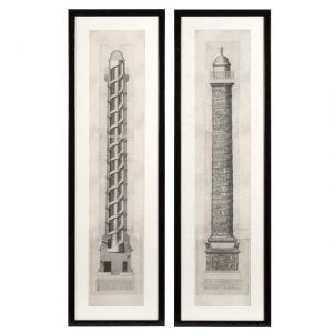 Prints Columna Set of 2