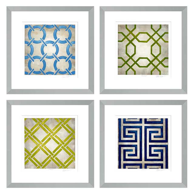 Prints EC190 Classical Symmetry Set of 4