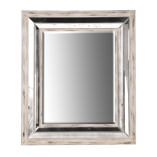 White Wash Mirror-Framed Mirror at Philipe Marques Home