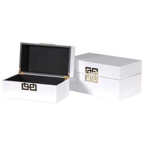 S/2 WHITE BOXES