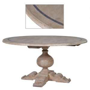 GREY-WASH ROUND D-TABLE