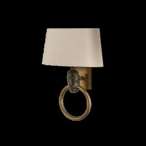TWL22 - AFRICAN HEAD WALL LIGHT - SAMBURU BLACK WITH GOLD