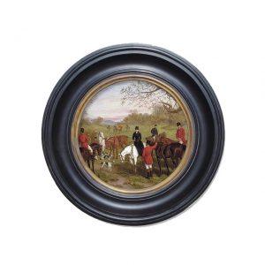 Porthole Collection - Hunt Scene