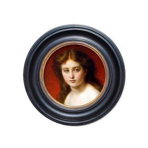 Porthole Collection - Portrait of a young girl en Deshbille