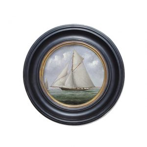 Porthole Collection - The Yacht Meteor off Ryde
