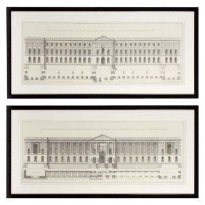PrintLa Facade Du Louvre