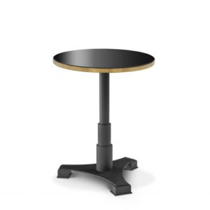 Choose the Avoria Bar Table for a contemporary take on the traditional bar table.