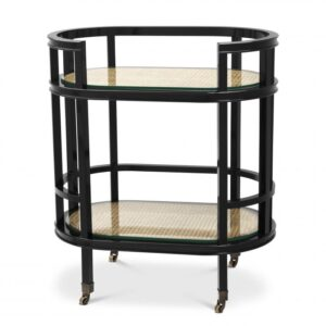 The elegant oblong Bahamas Trolley has a number of uses and can be utilised as a drinks trolley at parties or when serving dinner to guests in your dining room.