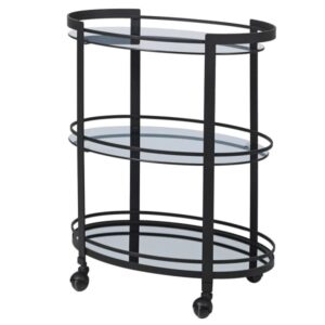 The smoked Mirr.drinks trolley Add a perfect touch to your room