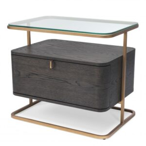 With its seductive curves and vintage look, the 1-drawer Augusto Side Table is a must-have nightstand in your bedroom.