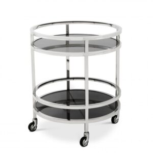 With four castor wheels of clear acrylic, the chic DAKOTA Trolley is the perfect accessory to serve cocktails in style.