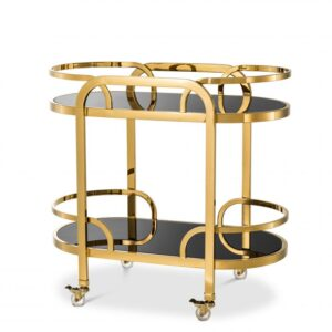 Serve cocktails and other drinks in style with the Oakhurst Trolley.