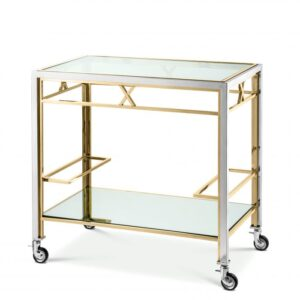 The luxury Lindon Trolley is ideal for channelling a touch of glamour into your interior scheme