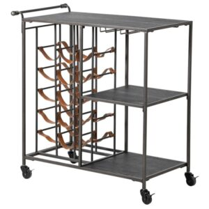 The Metal wine rack trolley gives to your dining room or lounge the perfect touch